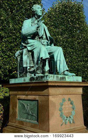 An iconic statue in a park in Copenhagen