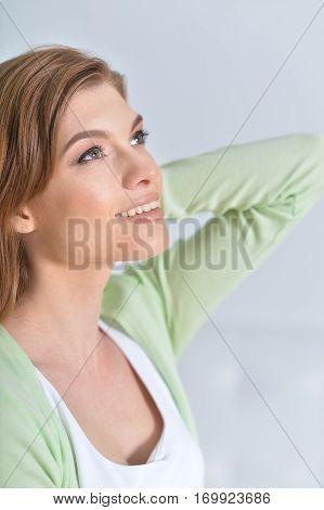 Portrait of a happy smiling woman close up