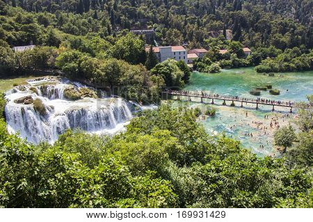 Krka National Park one of the most famous and the most beautiful park in Croatia