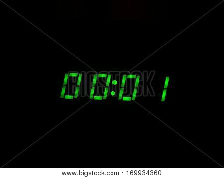 Digital clock display time electronic backlight midnight