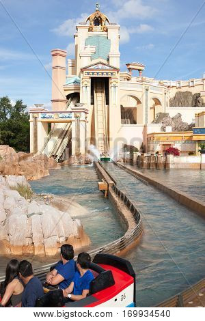 Journey To Atlantis Log Flume