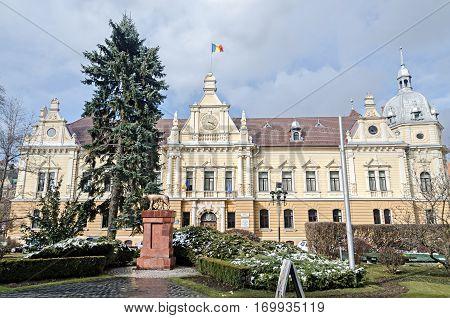 Brasov, Romania - March 19, 2015: The City Hall Of Brasov City (primaria Orasului Brasov).