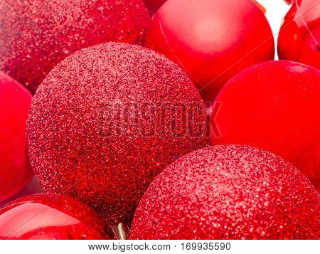 Red Christmas Shinny Globes, Christmas Tree Ornaments
