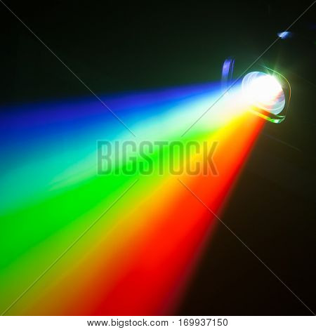 rgb spectrum color light of projector