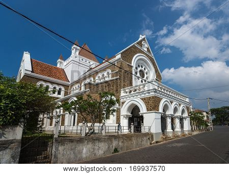 Colonial Fine Condition Building Development Of The Fort Galle On Sri Lanka.  All Saints Church