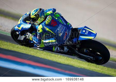 VALENCIA, SPAIN - NOV 13: Aleix Espargaro during Motogp Grand Prix of the Comunidad Valencia on November 13, 2016 in Valencia, Spain.