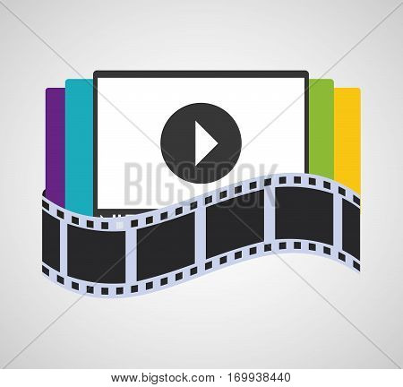 television screen home cinema vector illustration eps 10