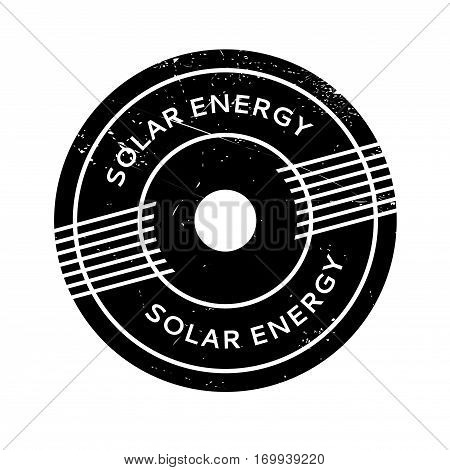 Solar Energy rubber stamp. Grunge design with dust scratches. Effects can be easily removed for a clean, crisp look. Color is easily changed.