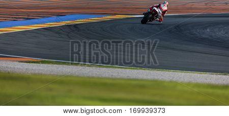 VALENCIA, SPAIN - NOV 13: Takaaki Nakagami in Moto2 warm up during Motogp Grand Prix of the Comunidad Valencia on November 13, 2016 in Valencia, Spain.