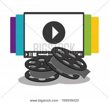 cinema home video reel vector illustration eps 10