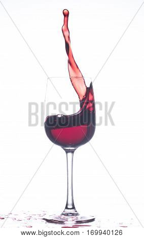 Swirl wine in the wineglass. Poured wine