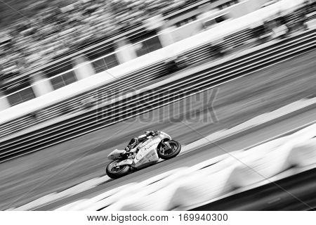 VALENCIA, SPAIN - NOV 13: Gardner in Moto2 Race during Motogp Grand Prix of the Comunidad Valencia on November 13, 2016 in Valencia, Spain.