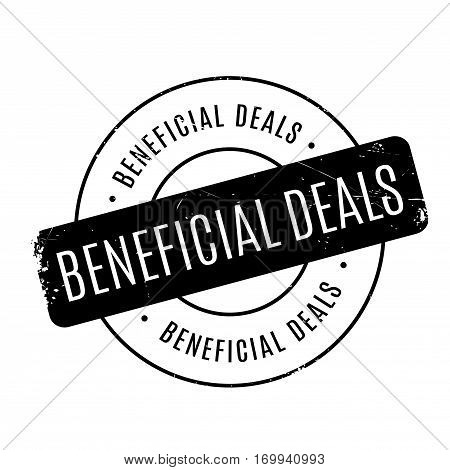 Beneficial Deals rubber stamp. Grunge design with dust scratches. Effects can be easily removed for a clean, crisp look. Color is easily changed.