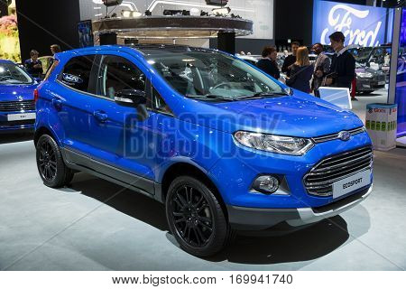 Blue Ford Ecosport Compact Suv Car