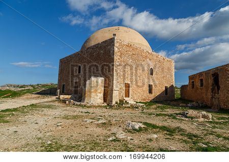The Mosque of Sultan Ibrahim in Fortezza Fort of Rethimno City Crete Greece