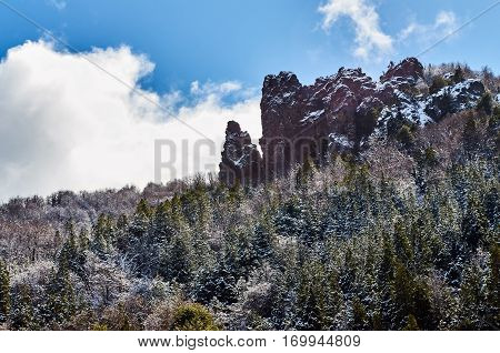Rocky Formation In The Enchanted Valley