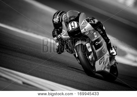 VALENCIA, SPAIN - NOV 12: Axel Pons in Moto2 Qualifying during Motogp Grand Prix of the Comunidad Valencia on November 12, 2016 in Valencia, Spain.