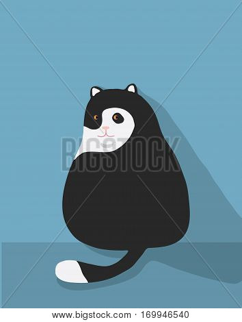 fat cat cute Illustration cute vector obese, feline, gray, fluffy, portrait, cute, grey, funny, face, obesity, licking, cheerful, beautiful, background, domestic,