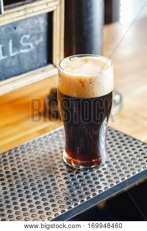 Stout Ale On A Bar Counter