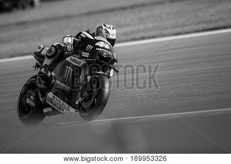 VALENCIA, SPAIN - NOV 12: Pol Espargaro during Motogp Grand Prix of the Comunidad Valencia on November 12, 2016 in Valencia, Spain.