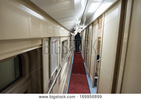 Passengers On The Train The Next Bunk Corridor