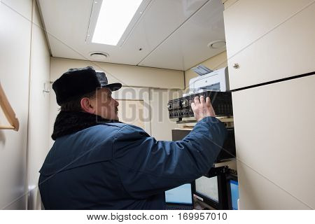Senior Train Conductor In The Control Room