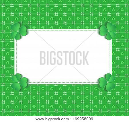 St.Patrick's Day greeting gift card vector template