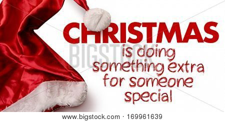 Christmas is Doing Something Extra for Someone Special