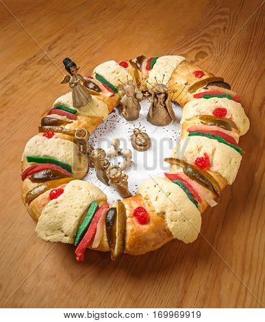 Epiphany Cake, Kings Cake, Or Rosca De Reyes