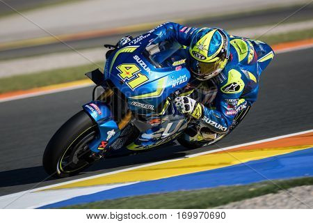 VALENCIA, SPAIN - NOV 11: Aleix Espargaro during Motogp Grand Prix of the Comunidad Valencia on November 11, 2016 in Valencia, Spain.