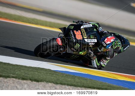 VALENCIA, SPAIN - NOV 11: Bradley Smith during Motogp Grand Prix of the Comunidad Valencia on November 11, 2016 in Valencia, Spain.