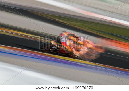 VALENCIA, SPAIN - NOV 11: Dani Pedrosa during Motogp Grand Prix of the Comunidad Valencia on November 11, 2016 in Valencia, Spain.