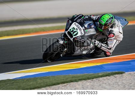 VALENCIA, SPAIN - NOV 11: Eugene Laverty during Motogp Grand Prix of the Comunidad Valencia on November 11, 2016 in Valencia, Spain.
