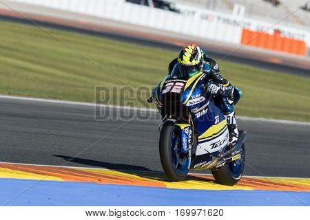 VALENCIA, SPAIN - NOV 11: Isaac Vinales during Motogp Grand Prix of the Comunidad Valencia on November 11, 2016 in Valencia, Spain.