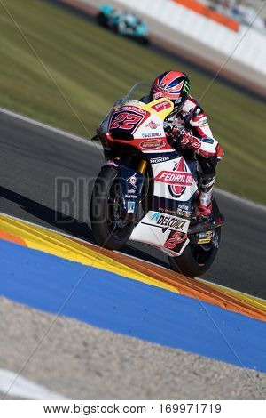 VALENCIA, SPAIN - NOV 11: Sam Lowes during Motogp Grand Prix of the Comunidad Valencia on November 11, 2016 in Valencia, Spain.
