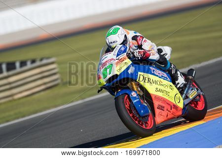 VALENCIA, SPAIN - NOV 11: Remy Gardner during Motogp Grand Prix of the Comunidad Valencia on November 11, 2016 in Valencia, Spain.