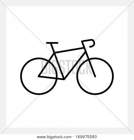 Speed bike icon isolated on white