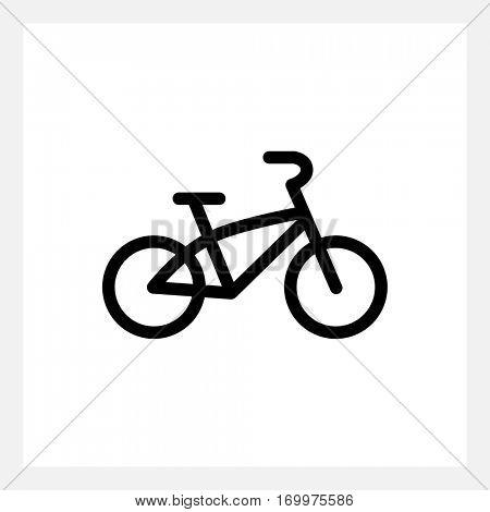 Black kids bike icon isolated on white