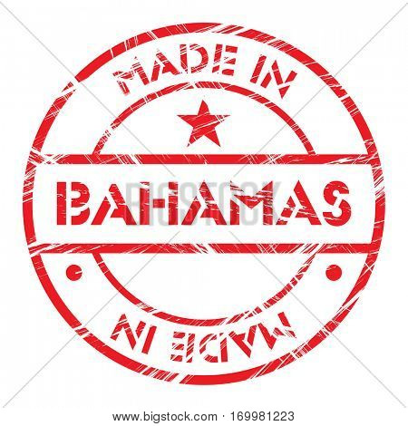 Made in Bahamas grunge rubber stamp