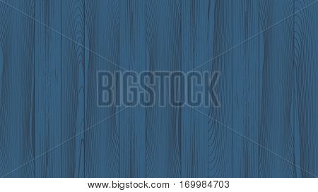 Realistic background of the wooden planks. Beautiful texture of planed hardwood. The backdrop for the presentation. Painted pine planks dim blue.