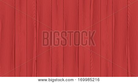 Realistic background of the wooden planks. Beautiful texture of planed hardwood. The backdrop for the presentation. Painted pine planks red.
