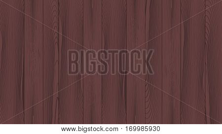 Realistic background of the wooden planks. Beautiful texture of planed hardwood. The backdrop for the presentation. Moraine pine plank dark brown.