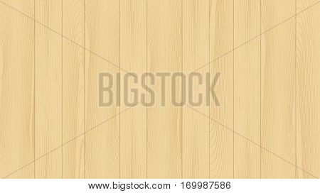 Realistic background of the wooden planks. Beautiful texture of planed hardwood. The backdrop for the presentation. Pine planks natural yellow color.