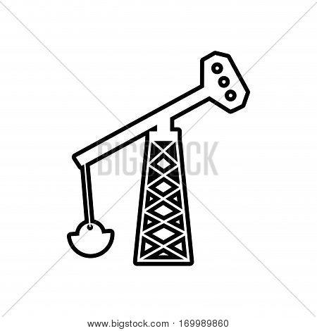 oil pump tower petroleum thin line vector illustration eps 10