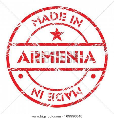 Made in Armenia grunge rubber stamp