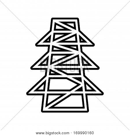 electricity tower transmission energy thin line vector illustration eps 10