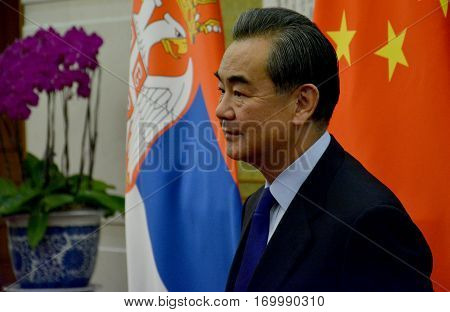Beijing, China. December 15Th 2016: Chinese Foreign Minister Wang Yi Before The Meeting