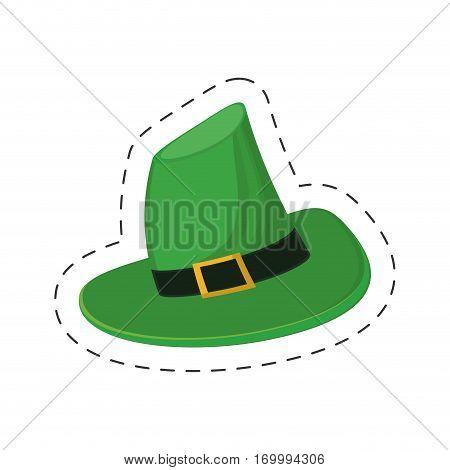 saint patrick day green hat vector illustration eps 10