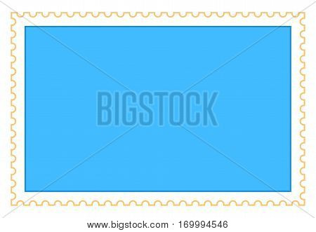Blank rectangle postage stamp. Quick and easy recolorable shape. Vector illustration a graphic element.