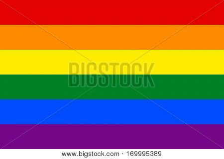 Rainbow pride flag LGBT movement. Vector illustration a graphic element